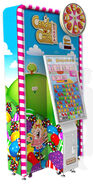 Candy crush saga arcade game (with spinner)