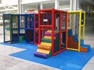Small soft play jungle gym