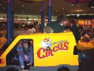 Chuck E. Cheese Circus van coin-op ride