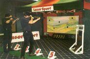 Laser hunting game