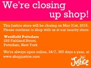 Canton, NY Justice closing sign