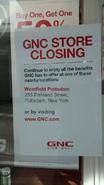 Canton, NY GNC closing sign