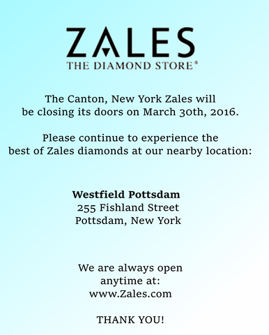 File:Canton, NY Zales closing sign.png