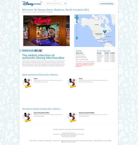File:Disney Store Madison, NC site notice.png