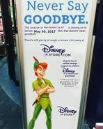 East Garden City, NY Disney Store closing sign