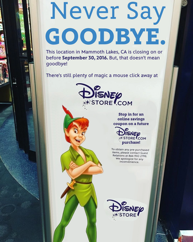 File:Mammoth Lakes, CA Disney Store closing sign.png