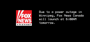 Sign on message Fox News Canada