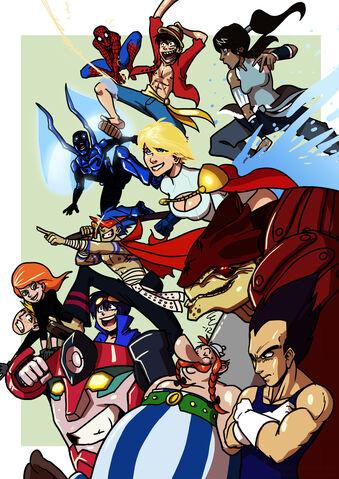 File:Fictional heroes by viktormon-d53k9vf.jpg