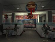 Burger shot interior
