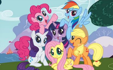 A group of ponies