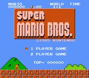 SMB title screen