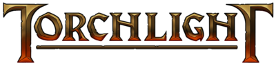 A torchlight logo