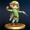 SSBB Trophy 188 Toon Link