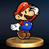 SSBB Trophy 148 Paper Mario