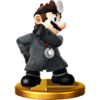 SSB4 Trophy DrMarioAlt WiiU