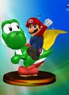 SSBM Trophy 292 Mario and Yoshi