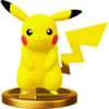 SSB4 Trophy Pikachu