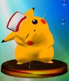 SSBM Trophy 024 Pikachu Smash2