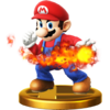 SSB4 Trophy Mario