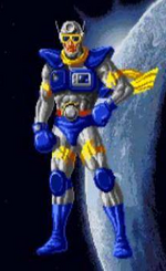 Sonic blast man art