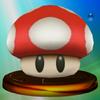SSBM Trophy 105 Super Mushroom