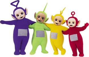 A group of teletubbies