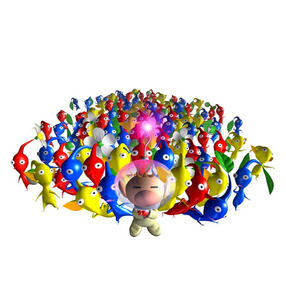A pikmin and Olimar