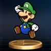 SSBB Trophy 149 Paper Luigi