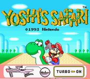 Yoshi's Safari Title