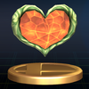 SSBB Trophy 190 Heart Container