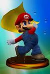 SSBM Trophy 002 Mario Smash1
