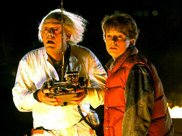 A doc brown and marty