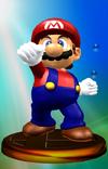 SSBM Trophy 001 Mario