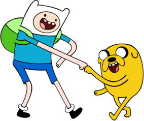 A Dog and Human named Finn and Jake