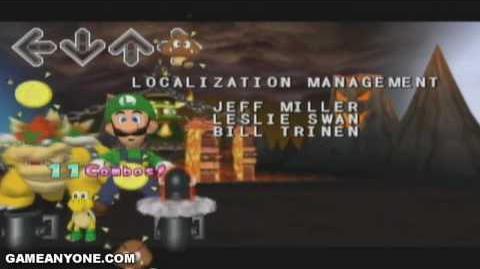 Dance Dance Revolution Mario Mix walkthrough - Credits