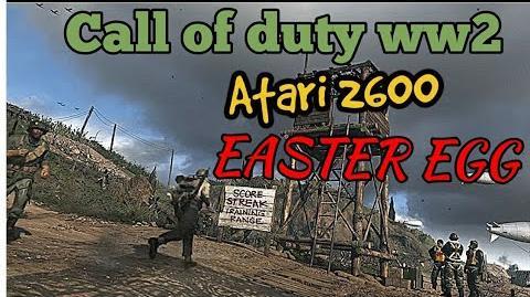 Call of Duty WW2 Atari 2600 Easter Egg!