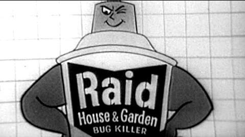 Video Commercial Raid House Garden Bug Killer W Mel Blanc S C Johnson Wax