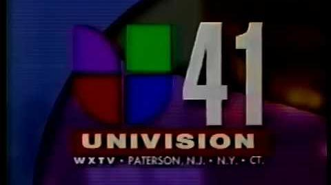 WXLI-TV Noticias 41 news open from 1996 to 2001.