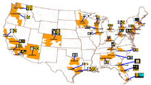 Map of CBS O&O's