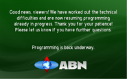 ABN tech problem corrected