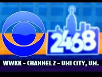 WWKK CBS 2468 Television logo