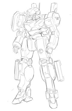 Mecha sketch by ebr kii-d4utfbp