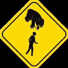 Drop bear sign