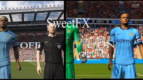 SweetFX enabled in - FIFA 15 - gameplay PC Win 8