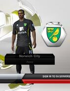 10. Norwich away kit