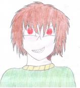 Mary z czerwonymi oczami