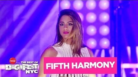 "Fifth Harmony - ""Miss Movin' On"" DigiFest NYC Presented by Coca-Cola-0"