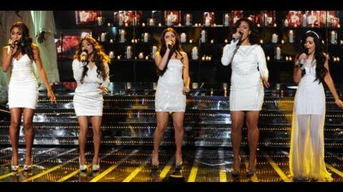 """Fifth Harmony """"Let It Be"""" - Live Week 8 Final - The X Factor USA 2012"""