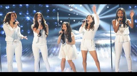 "Fifth Harmony ""Hero"" Live Show 3 (Top 12) - The X Factor USA 2012 HD"