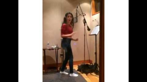 Camila singing 'Remind Yourself' from Meghan Trainors Instagram video.